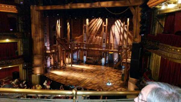 CIBC Theatre, section: Mezzanine R, row: B, seat: 2