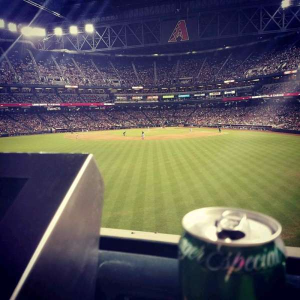Chase Field, section: Center Field, row: 1