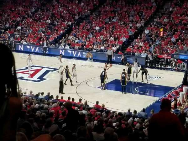 McKale Center, section: MI 12, row: 29, seat: 26
