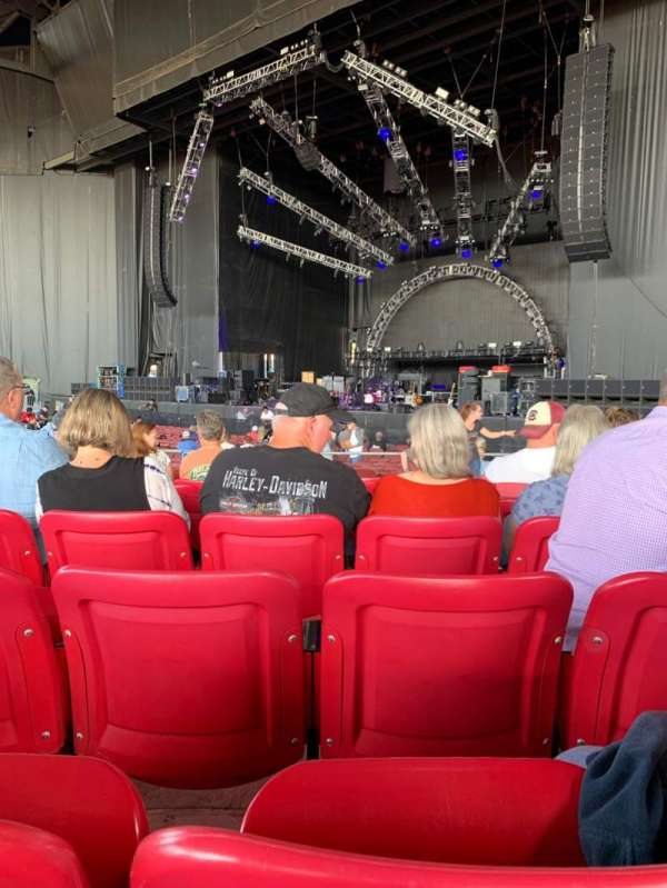 White River Amphitheatre, section: 101, row: 8, seat: 19