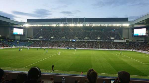Ibrox Stadium, section: Bill Struth Main Front, row: A, seat: 0121