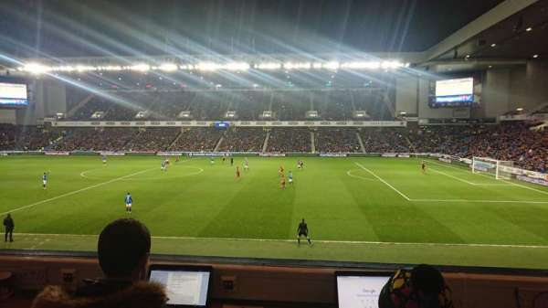 Ibrox Stadium, section: Bill Struth Main Front, row: A, seat: 0103