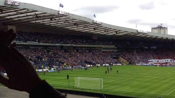 Hampden Park, section: East Stand, row: LL, seat: 0148