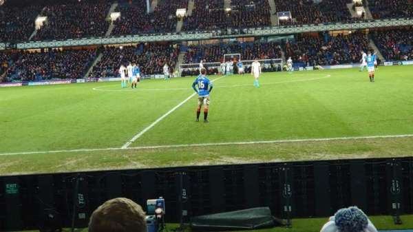 Ibrox Stadium, section: Sandy Jardine Front, row: G, seat: 109