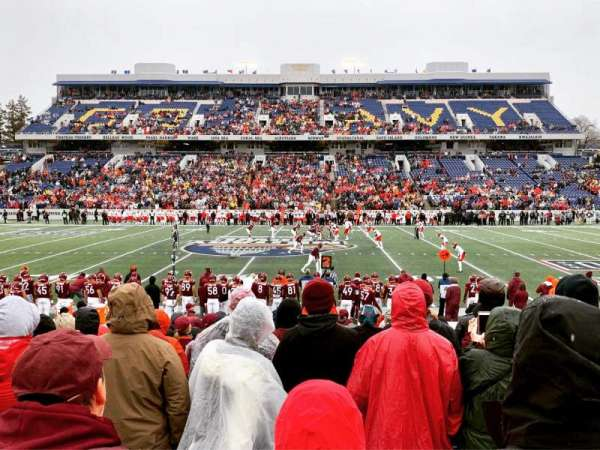 Navy-Marine Corps Memorial Stadium, section: 4, row: 3, seat: 3