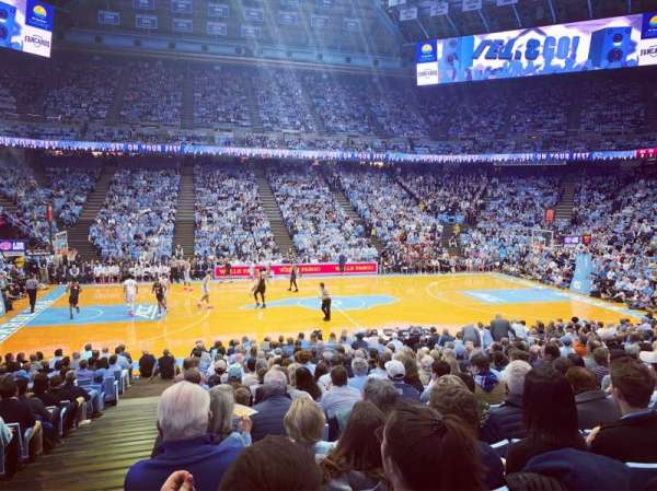 Dean E. Smith Center, section: 125, row: R, seat: 1