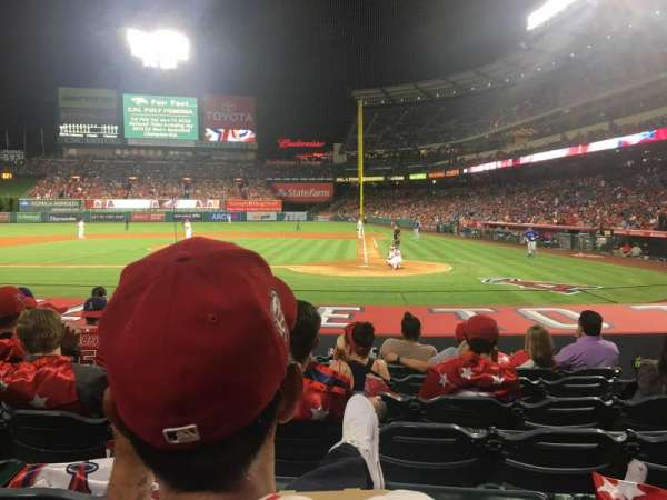 Angel Stadium, section: Diamond Club 114, row: K, seat: 8