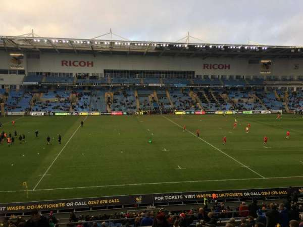 Ricoh Arena, section: East Stand, row: GG, seat: 22