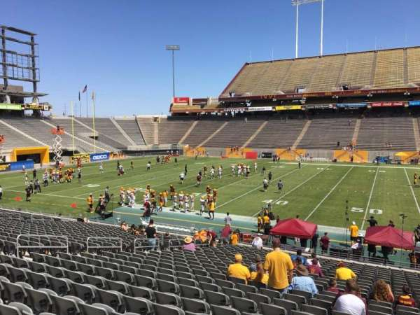 Sun Devil Stadium, section: 7, row: 25, seat: 12