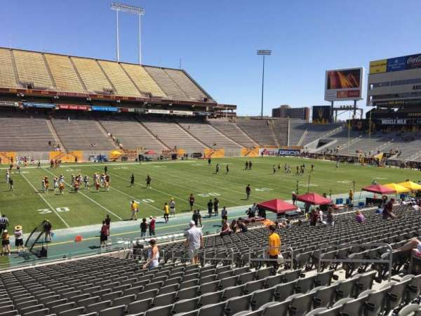 Sun Devil Stadium, section: 9, row: 25, seat: 12