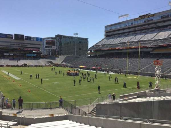 Sun Devil Stadium, section: 21, row: 25, seat: 12