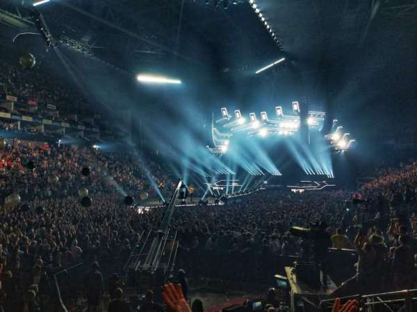 The O2 Arena, section: 108, row: J, seat: 253