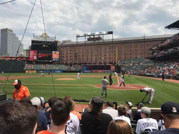 Oriole Park at Camden Yards, section: 46, row: 6, seat: 1