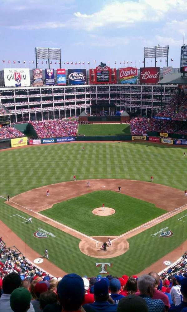 Globe Life Park in Arlington, section: 327, row: 17, seat: 11