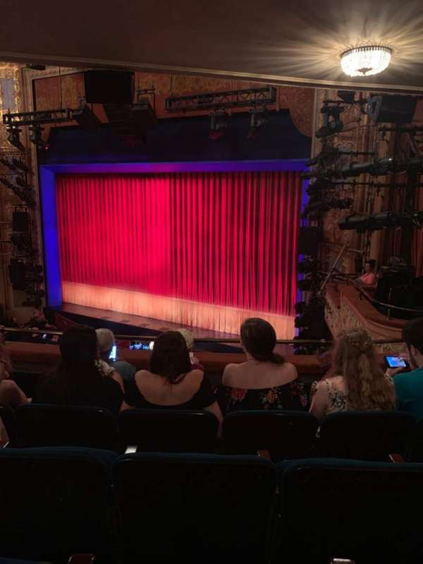 Longacre Theatre, section: Mezzanine R, row: E, seat: 19