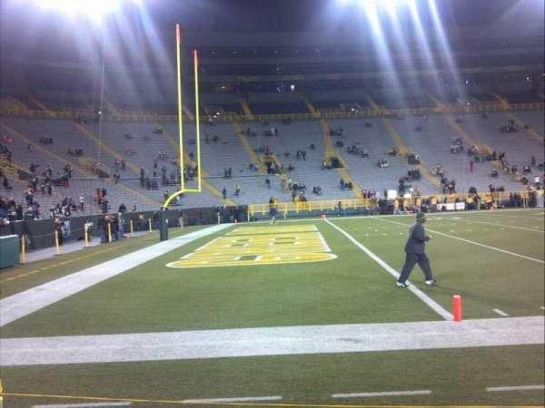 Lambeau Field, section: 110, row: 1, seat: 1