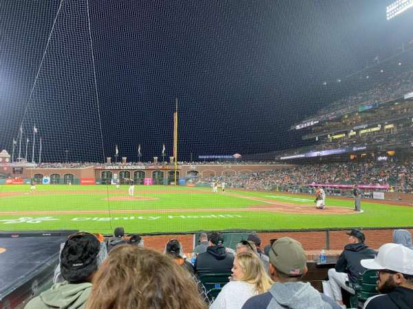 Oracle Park, section: 122, row: C, seat: 3
