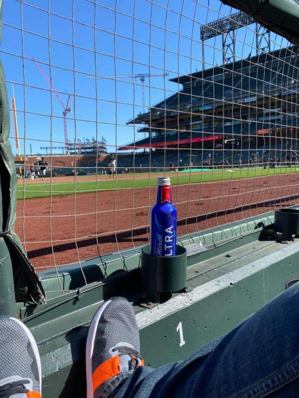 Oracle Park, section: 126, row: A, seat: 1