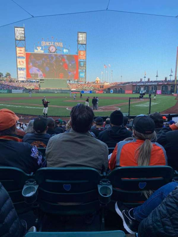 Oracle Park, section: 117, row: H, seat: 3