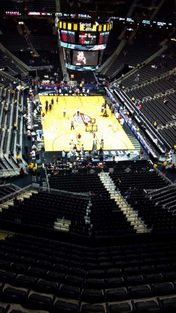 T-Mobile Center, section: 201, row: 13, seat: 15