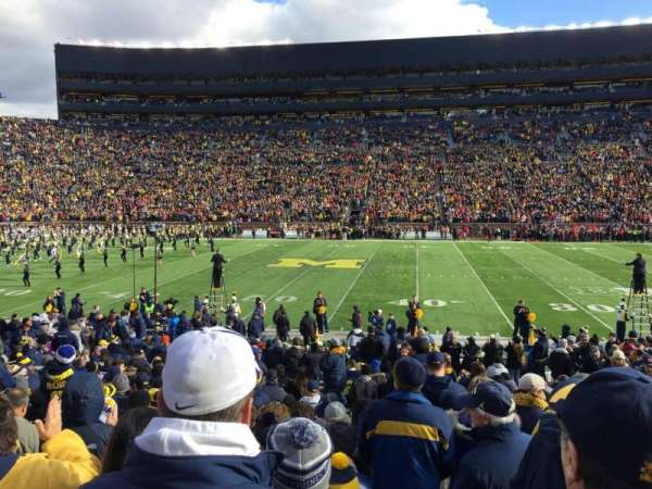 Michigan Stadium, section: 22, row: 23, seat: 5