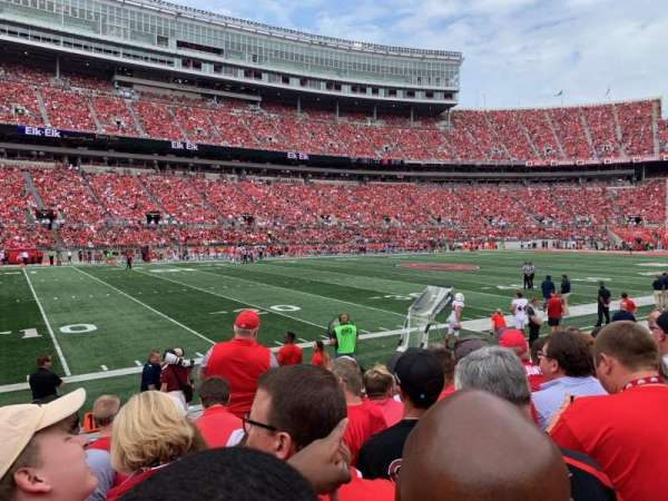 Ohio Stadium, section: 26AA, row: 7, seat: 11
