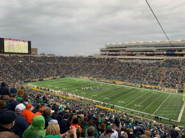 Notre Dame Stadium, section: 107, row: 25, seat: 9