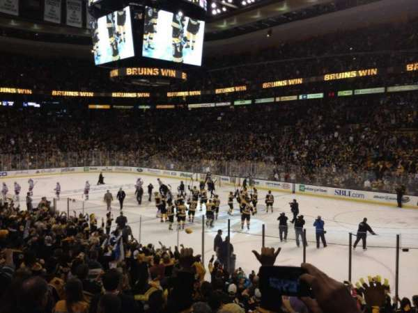 TD Garden, section: Loge 20, row: 15, seat: 8