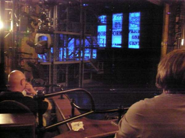 Nederlander Theatre, section: Left Mezzanine, row: CC, seat: 29