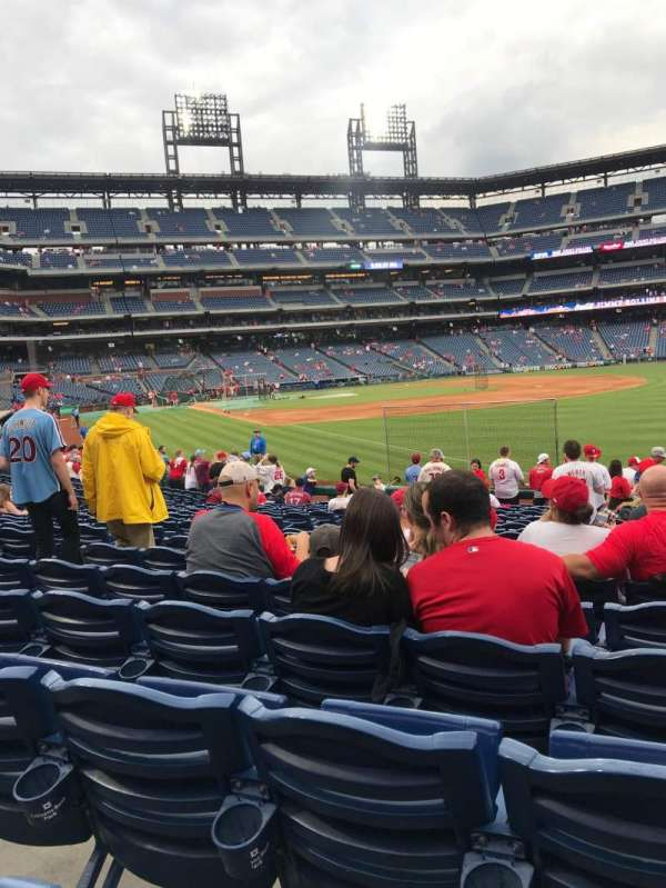 Citizens Bank Park, section: 109, row: 19, seat: 12