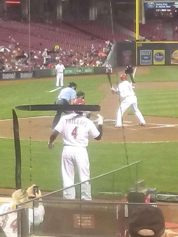 Great American Ball Park, section: 127, row: L, seat: 10