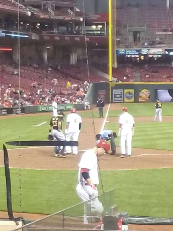 Great American Ball Park, section: 127, row: L, seat: 11