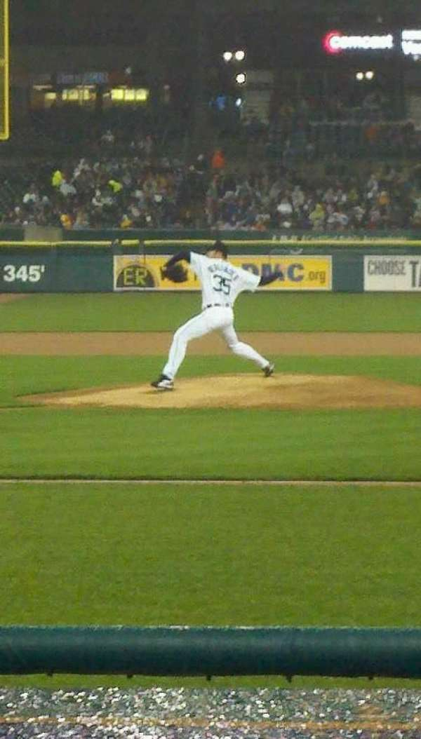 Comerica Park, section: 122, row: 1 , seat: 3