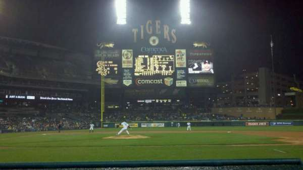 Comerica Park, section: 122, row: 1, seat: 3