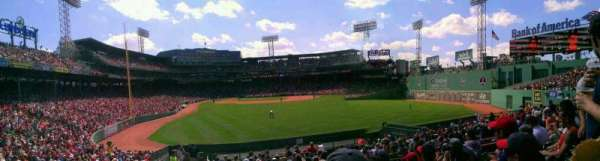 Fenway Park, section: Bleacher 43