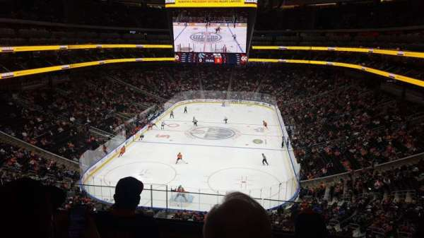 Rogers Place, section: SN-B, row: 3, seat: 5