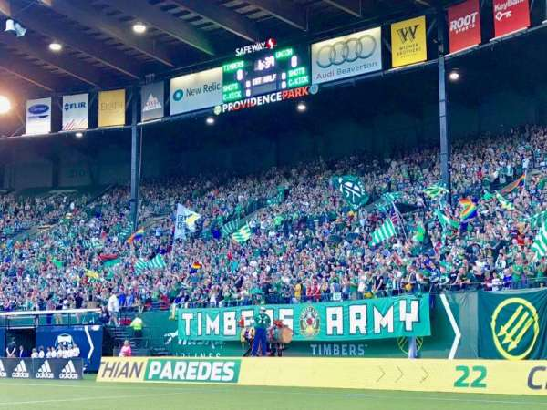 Providence Park, section: Field, row: 1, seat: 5