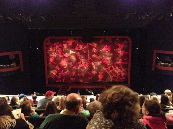 Minskoff Theatre, section: Mezzanine, row: G, seat: 128