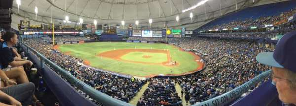 Tropicana Field, section: 207, row: A, seat: 10