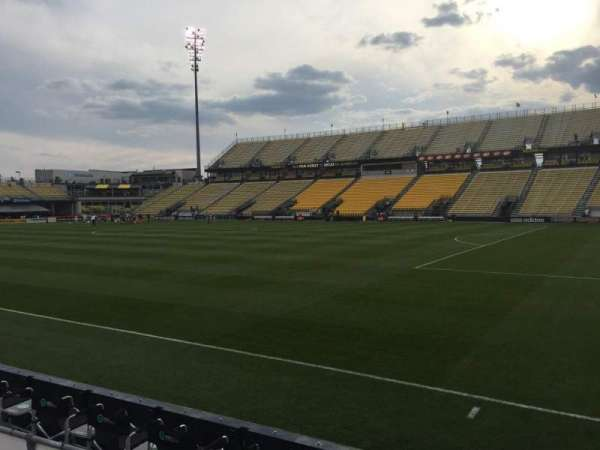 Mapfre Stadium, section: 102, row: 1, seat: 7