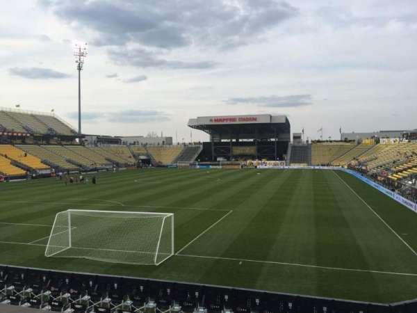 Mapfre Stadium, section: 113, row: 14, seat: 16