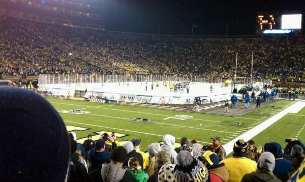 Michigan Stadium, section: 9, row: 11, seat: 4