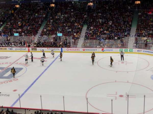 Rogers Arena , section: 306, row: 2, seat: 1