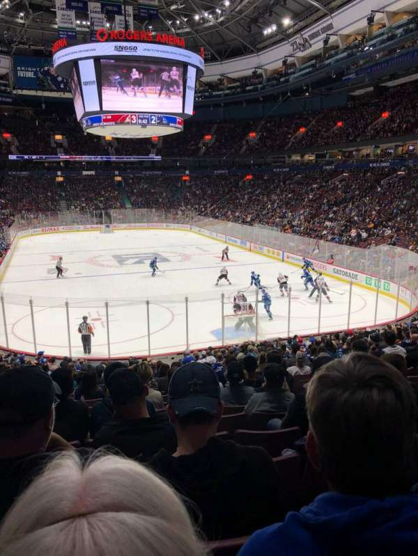 Rogers Arena, section: 112, row: 21, seat: 104