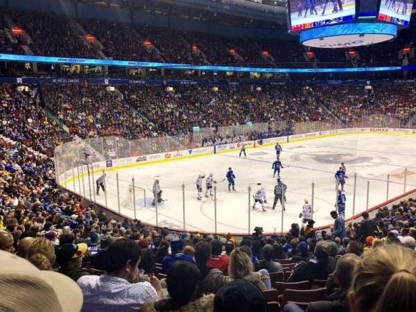 Rogers Arena, section: 110, row: 20, seat: 12