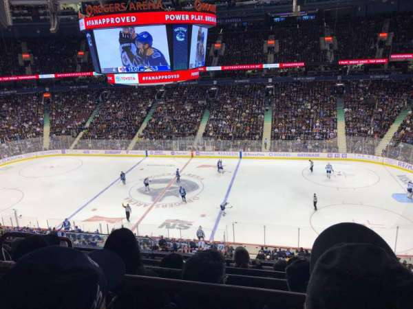 Rogers Arena , section: 322, row: 5, seat: 1