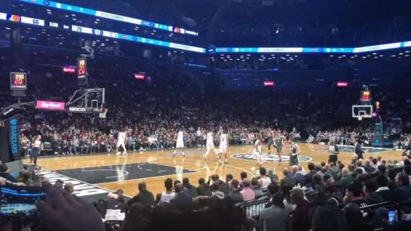 Barclays Center, section: 12, row: 6, seat: 4