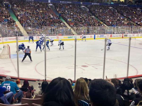 Rogers Arena, section: 120, row: 11, seat: 4