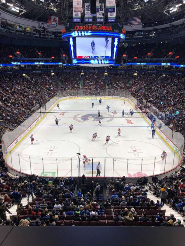 Rogers Arena, section: 301, row: 1, seat: 9