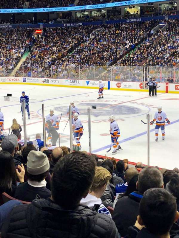 Rogers Arena, section: 115, row: 12, seat: 109